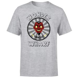 Bobs Burgers Wonder Wharf Fun House Men's T-Shirt - Grey