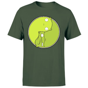Bobs Burgers Melted Ying Yang Men's T-Shirt - Forest Green