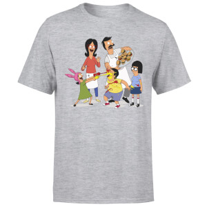 T-Shirt Homme Family Fight Bob's Burgers - Gris
