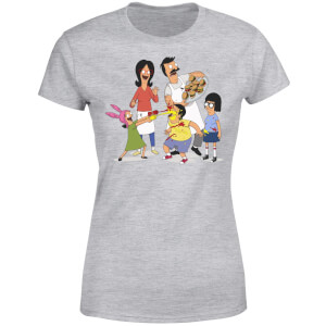 Bobs Burgers Family Fight Women's T-Shirt - Grey