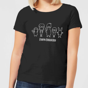Bobs Burgers Family Toon Silhouette Women's T-Shirt - Black