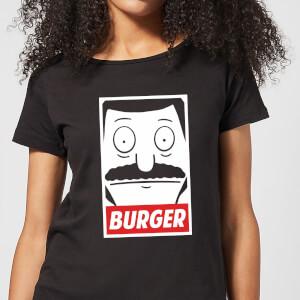 Bob's Burgers Propaganda Bob Burger Women's T-Shirt - Black