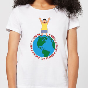 Bobs Burgers A World Without A Gene Women's T-Shirt - White