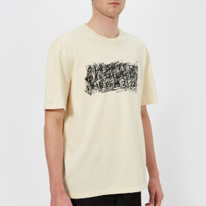 Maison Margiela Men's Mako' Cotton Jersey T-Shirt - Butter