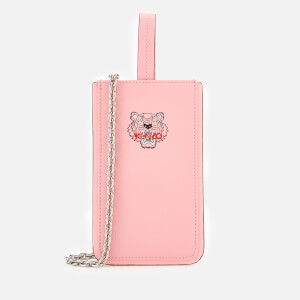 KENZO Women's Tiger Phone Case on Chain - Faded Pink