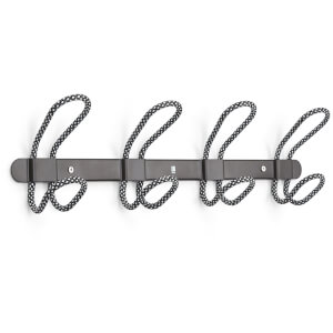Umbra Lasso 4 Coat Hooks Wall/Over The Door - Black