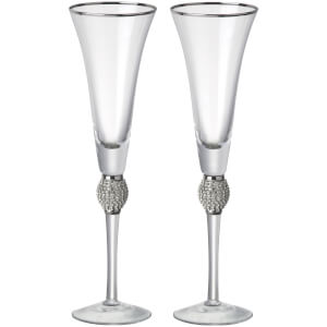 Parlane Ophelia Flute Set of 2 - Silver