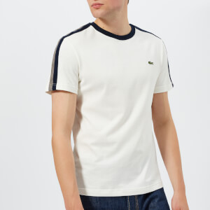 Lacoste Men's Tape Detail T-Shirt - Flour