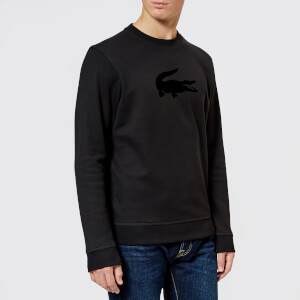 Lacoste Men's Velvet Logo Sweatshirt - Black