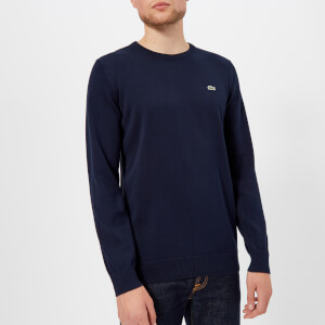Lacoste Men's Classic Cotton Crew Knit Jumper - Navy