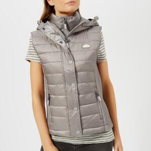 Superdry Women's Luxe Fuji Double Zip Vest - Comet Silver
