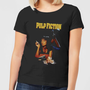 Pulp Fiction Poster Damen T-Shirt - Schwarz