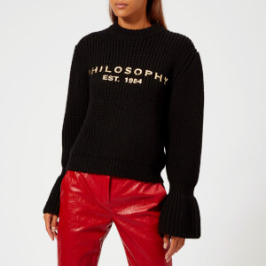 Philosophy di Lorenzo Serafini Women's Black Logo Jumper - Black