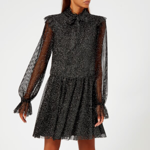 Philosophy di Lorenzo Serafini Women's Glitter Net High Neck Dress - Black