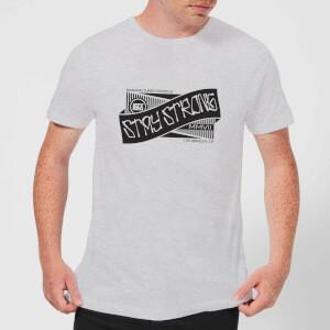 Stay Strong Ribbon Men's T-Shirt - Grey