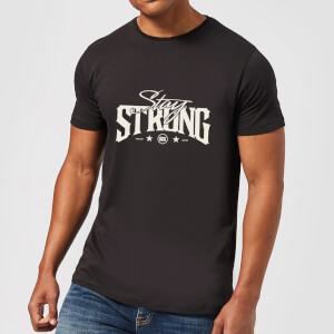 Stay Strong Logo Men's T-Shirt - Black