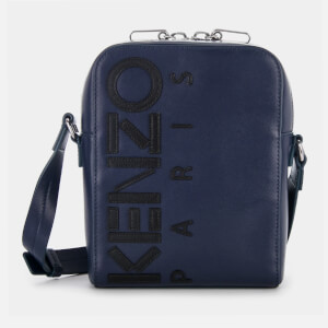 KENZO Men's Calfskin Cross Body Bag - Navy Blue