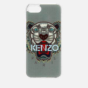 KENZO Men's Tiger Silicone iPhone 7/8 Case - Pale Grey