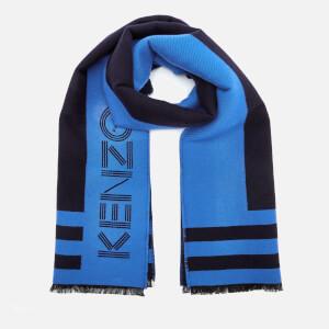 KENZO Men's Sport Logo Scarf - Navy Blue