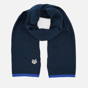 KENZO Men's Tiger Crest Scarf - Navy Blue
