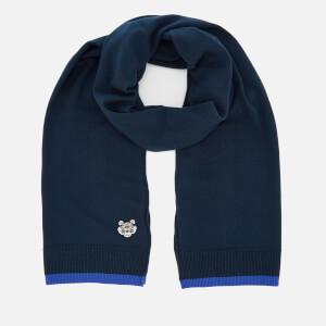 KENZO Men's Tiger Crest Scarf - Navy Blue