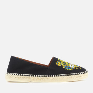 KENZO Men's Canvas Tiger Head Classic Espadrilles - Black