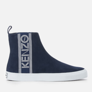 KENZO Men's Kapri Suede High Top Trainers - Navy Blue