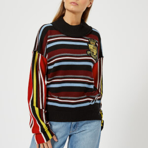 JW Anderson Women's Deconstructed Stripe Jumper - Burnt Orange