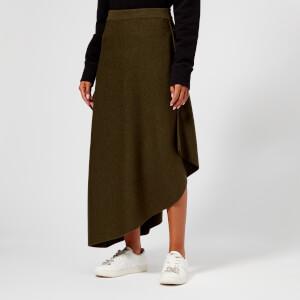 JW Anderson Women's Asymmetric Skirt - Khaki