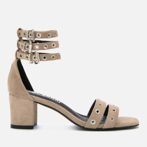 Sol Sana Women's Sugar Suede Heeled Sandals - Dove