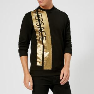 Versace Jeans Men's Foil Print Sweatshirt - Nero