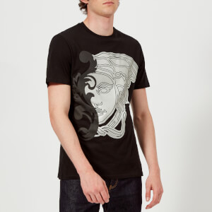Versace Collection Men's Large Medusa Logo T-Shirt - Nero