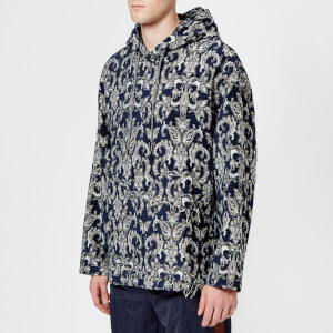 Wooyoungmi Men's Paisley Hoodie - Blue