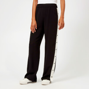 Karl Lagerfeld Women's Wide Leg Logo Sweatpants - Black