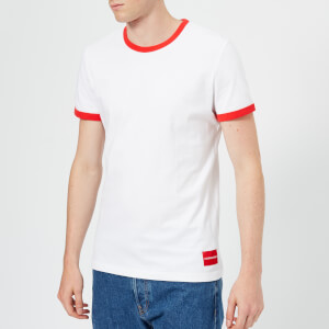 Calvin Klein Jeans Men's Authentic Ringer Slim T-Shirt - Bright White