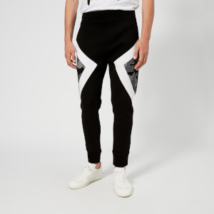 Neil Barrett Men's Iconic Camo Modernist Bonded Soft Sweatpants - Black/White