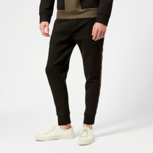 Neil Barrett Men's Camo Stripe Bonded Soft Sweatpants - Black/White