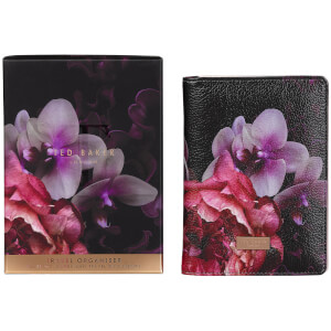 Ted Baker Travel Document Holder - Black Splendour