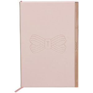 Ted Baker Soft Touch A5 Notebook - Pink Bow