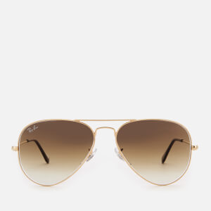Ray-Ban Men's Aviator Metal Frame Sunglasses - Gold