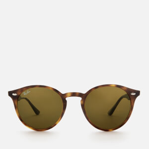 Ray-Ban Men's Round Frame Sunglasses - Dark Havana