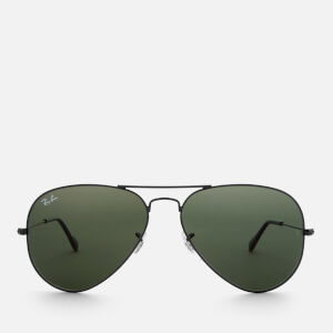 Ray-Ban Men's Aviator Metal Frame Sunglasses - Black