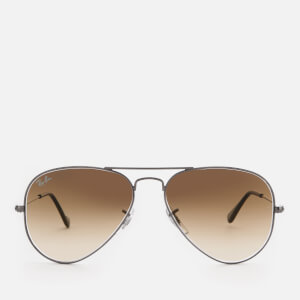 Ray-Ban Men's Aviator Metal Frame Sunglasses - Gunmetal