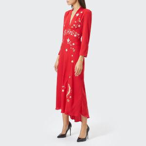 RIXO London Women's Margo Midi Waist Panel Dress - Red