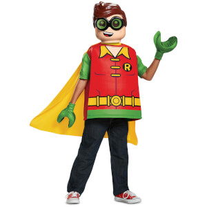LEGO Batman Movie Kids Robin Classic Fancy Dress - Red/Green