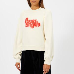 Ganni Women's Lott Isoli Sweatshirt - Egret