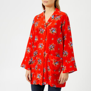 Ganni Women's Kochhar Shirt - Fiery Red