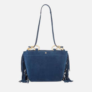 Tory Burch Women's Farrah Fringe Minik Tote Bag - Royal Navy