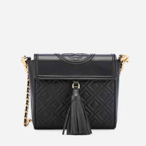 Tory Burch Women's Fleming Quilted Leather Bag - Black