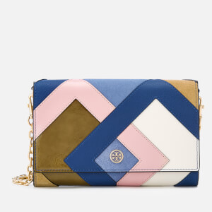 Tory Burch Women's Robinson Pieced Chain Wallet - Bright Navy/Multi